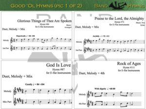 Good Ol' Hymns, pic of sheet music 1 of 2, E-flat