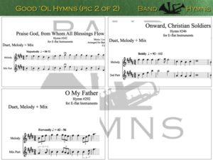 Good Ol' Hymns, pic of sheet music 2 of 2, E-flat