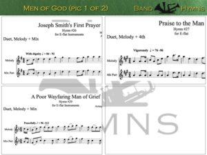 Men of God, pic of sheet music 1 of 2, E-flat
