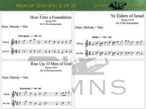 Men of God, pic of sheet music 2 of 2, E-flat
