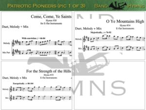 Patriotic Pioneers, pic of sheet music 1 of 3, E-flat