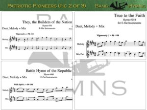 Patriotic Pioneers, pic of sheet music 2 of 3, E-flat