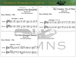 Patriotic Pioneers, pic of sheet music 3 of 3, E-flat