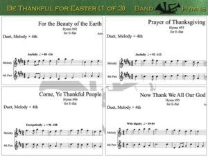 Be Thankful for Easter, pic of sheet music 1 of 3, E-flat
