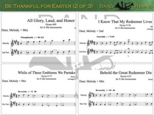 Be Thankful for Easter, pic of sheet music 2 of 3, E-flat
