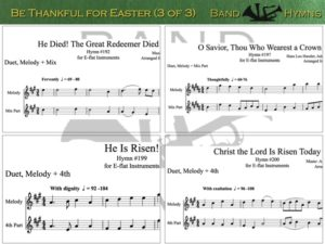 Be Thankful for Easter, pic of sheet music 3 of 3, E-flat