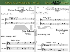 Good Ol' Hymns, pic of music, 1 of 2, Flute