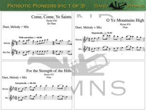 Patriotic Pioneers, pic of music, 1 of 3, Flute