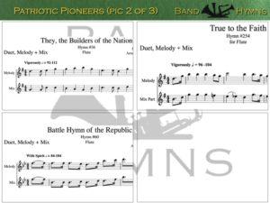 Patriotic Pioneers, pic of music, 2 of 3, Flute