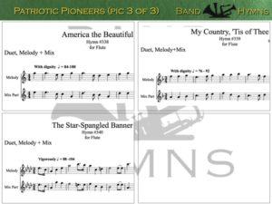 Patriotic Pioneers, pic of music, 3 of 3, Flute