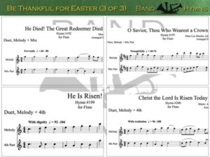 Be Thankful for Easter, pic of music, 3 of 3, Flute
