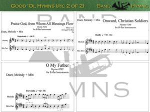 Good Ol' Hymns, pic of sheet music 2 of 2, B-flat