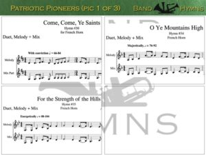 Patriotic Pioneers, pic of music, 1 of 3, French Horn