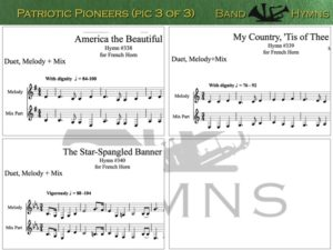 Patriotic Pioneers, pic of music, 3 of 3, French Horn