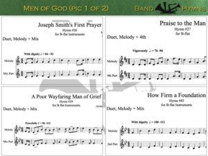 Men of God hymns, pic of sheet music 1 of 2, B-flat