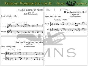 Patriotic Pioneers, pic of sheet music 1 of 3, B-flat