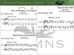 Patriotic Pioneers, pic of sheet music 2 of 3, B-flat