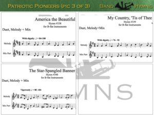 Patriotic Pioneers, pic of sheet music 3 of 3, B-flat