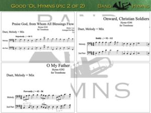 Good Ol' Hymns, pics of music in compilation, 2 of 2, trombone
