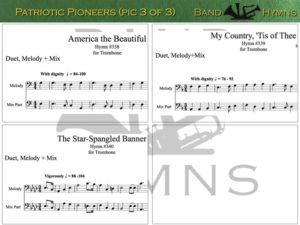 Patriotic Pioneers, pics of music in compilation, 3 of 3, trombone
