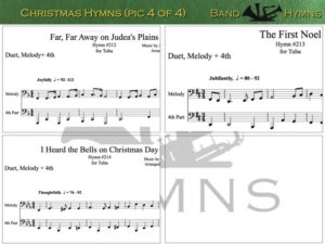 Christmas Hymns, pics of music in compilation, 4 of 4, tuba