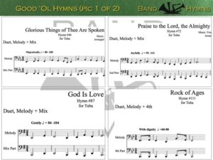 Good Ol' Hymns, pics of music in compilation, 1 of 2, tuba