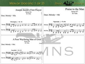 Men of God, pics of music in compilation, 1 of 2, tuba