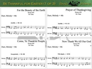 Be Thankful for Easter, pics of music in compilation, 1 of 3, tuba