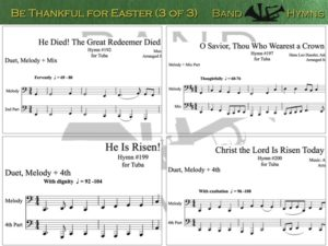Be Thankful for Easter, pics of music in compilation, 3 of 3, tuba